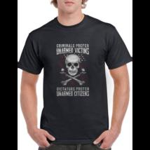 Mens American Flag Criminals Prefer Unarmed Victims Patriotic T-Shirt - $35.99+