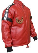 Mens Smokey and The Bandit Red Bomber Leather Jacket image 2