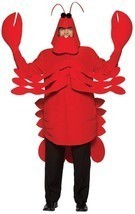 Lobster Adult Costume Crustacean Red Tunic Men Women Food Halloween Uniq... - €82,57 EUR