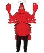 Lobster Adult Costume Crustacean Red Tunic Men Women Food Halloween Uniq... - €82,32 EUR
