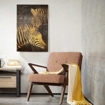 "Luxury Black & Gold Lux Zebras Metallic Canvas Wall Art - 24x36"" - $60.79"