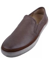 New FRYE Men's Gavin Slip-On Shoes Grey Soft Vintage Leather 10.5 M - $79.99