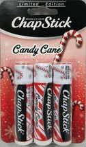 3 Pack Candy Cane ChapStick Lip Balm Holiday Limited Edition - $8.86