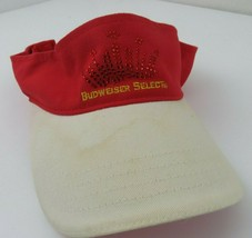 Budweiser Select Beer Adjustable Adult Visor Cap Hat - $12.86