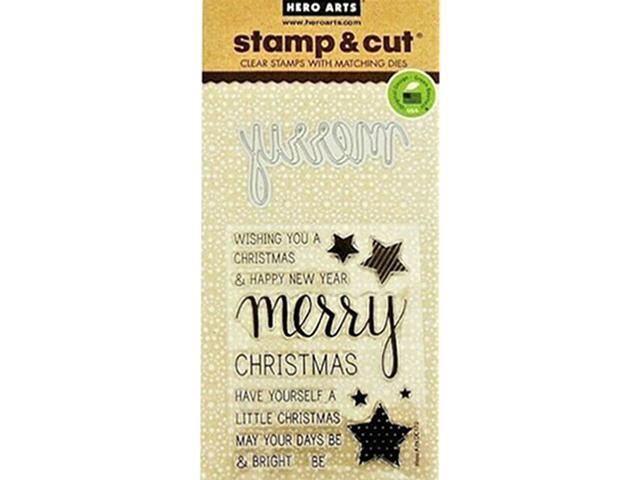 Hero Arts Merry Stamp and Cut Set #DC170