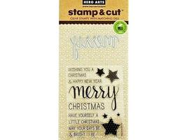 Hero Arts Merry Stamp and Cut Set #DC170 - $13.99