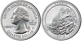 2012 S ACADIA National Park Quarters 100 Coin Bag Sealed Mint Box - $74.99