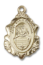 14K Gold Filled Maria Faustina Pendant 3/4 x 1/2 inch with 18 inch Chain - $108.05