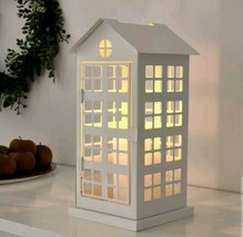 """IKEA Vinterfest Block Candle Holder House Cage White 14"""" New 904.333.39  - $28.70"""