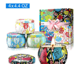 Scented, Soy Wax, in a tin can, fragrance Candles (4pack) - $11.58