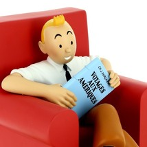 Tintin red armchair resin statue NEW Icons collection Tintin image 2