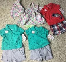 NEW! Lot Baby Boys Girls  Carter's Shirt Dress Shorts  SZ 3 M - $18.69