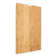 Extra LARGE Carbonised Kitchen Bamboo Cutting Chopping Board With Hook Kitchen C image 4
