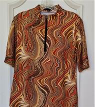 Stylish Women's Golf & Casual Short Sleeve Colorful Animal Print Mock Po... - $29.95