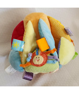 Taggies Activity Ball Plush Toy Tags Textures Squeaker Colorful Bee Sun ... - $24.74