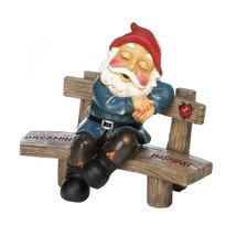 Garden Gnome Funny, David Squatting Garden Gnome Funny Miniature - $36.18