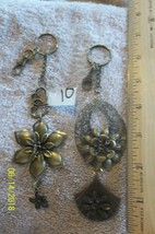 # purse jewelry bronze color keychain backpack filigree charm floral 10 ... - $5.56