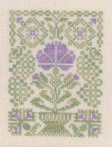 Easter Flower cross stitch chart Elizabeth's Designs  - $5.40