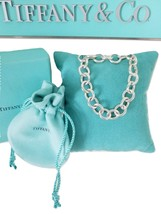 * Tiffany & Co Silver Solo Donuts Link Chain Toggle Bracelet Clasping end - $225.00