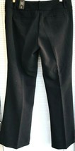 LTD Drew Fit Dress Pants Womens Sz 10 SHORT Black Flared Stretch New - $17.32