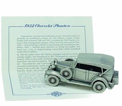 Danbury Mint classic car world pewter model coa vtg 1932 Chevrolet Phaet... - $28.91