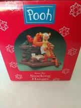 "1998 Disney Pooh Stocking Hanger - Tigger Milk And Cookies Christmas deco ""read"" - $34.99"