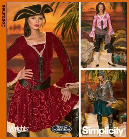 Primary image for Simplicity 4914 sewing pattern makes Misses Pirate Costumes in sizes 6-8-10-12