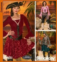 Simplicity 4914 sewing pattern makes Misses Pirate Costumes in sizes 6-8... - $4.64