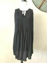 Old Navy Dress Size XS Black Popover Sleeveless Pintuck Swing Dress  - $19.99
