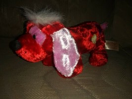"Dan Dee Collectors Choice Dog Plush 10"" Valentines Day Hearts Red Pink... - $15.83"