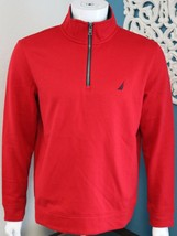 Mens Nautica Quarter-Zip Sweatshirt Sizes M XL Red - $35.75