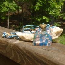 Blue summer fashion acrylic pendant gold flake peacock seed beeds rectangle beach glam3 thumb200