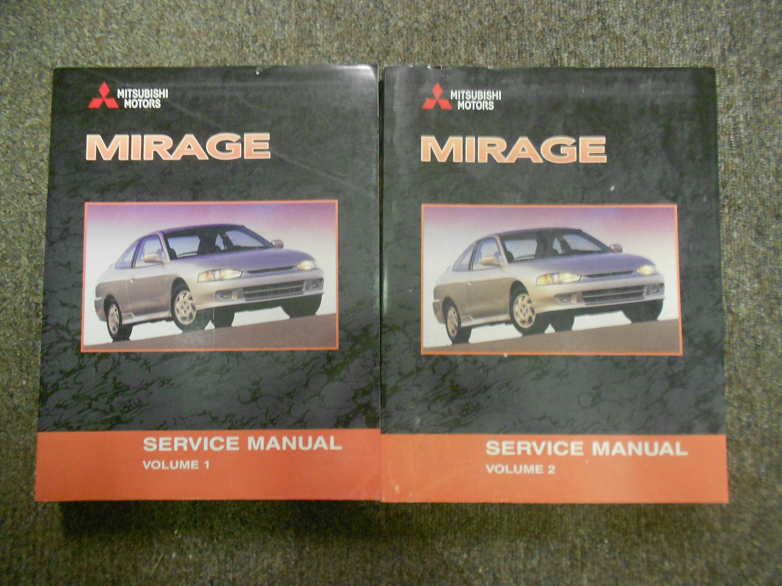 2002 MITSUBISHI Mirage Service Repair Shop Manual SET 2 VOL FACTORY OEM BOOK x