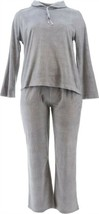 Carole Hochman Shawl Collar Sueded Fleece Lounge Set Heather Grey L NEW ... - $13.84