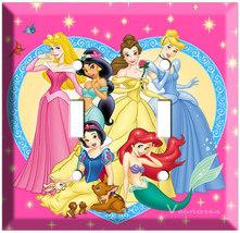 Disney Princess Double Light Switch plate Cinderella Snow White Ariel Ja... - $14.99