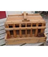 Primitive Handmade Homing Pigeon Carrier Box Coop Wood CA Fruit Crate AAFA - $79.95