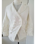 NWOT INC International Concepts LINEN DOUBLE-BREASTED BLAZER S - $56.99