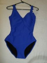 Gottex Mikado 2014 Architecture Surplice One Piece Swimsuit Blue 8-$108 - $33.59