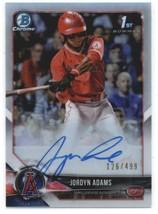 2018 Bowman Draft Chrome Autographs Refractors #CDA-JA Jordyn Adams Ange... - $86.40