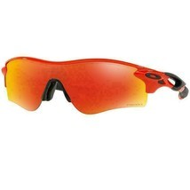 Oakley Radarlock Path Sunglasses Infrared  w/Prizm Ruby Lens Men OO9206 45 - £92.64 GBP