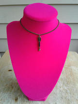Black Arrow Choker Necklace Antique Brass Chain Choker Necklace Bohemian... - $25.00