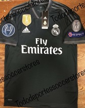 adidas Real Madrid 2018-2019 Away Soccer Jersey With Champions Patches S... - $98.01