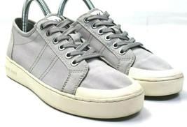 MICHAEL by Michael Kors Women's Grey Canvas Sneakers Size 7  - HJ170 - $33.65