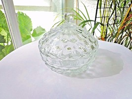 Colonial Glass Whitehall Pattern Clear Covered Candy Nut Bowl - $11.88