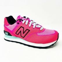New Balance 574 Classics Elite Woven Neon Pink Womens Sneakers WL574EPK - £49.44 GBP