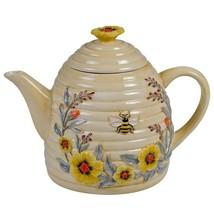 "Bee Sweet 28149 3D Ceramic Beehive 32 oz Teapot 8.25"" L Yellow Susan Winget - $41.58"