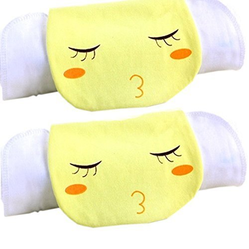 2 Lovely Kiss Me Baby Cotton Gauze Towel Wipe Sweat Absorbent Cloth Mat Towels