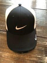 NIKE GOLF LEGACY91 Tiger Style Trucker HAT CAP BLACK & WHITE OSFA SIZE L... - $24.75