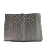 Louis Vuitton monogram Shine Silver w. silver shawl weaved jacquard silk... - $494.01