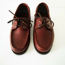 Bass Seafarer Brown Boat Shoes Leather 10.5 Wide - $49.99